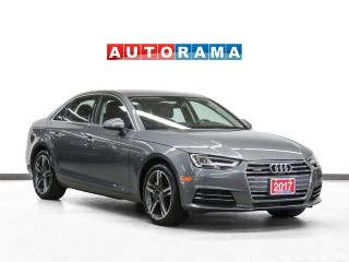 Used 2017 Audi A4 Technik Quattro Nav Leather Sunroof Backup Cam for sale in Toronto, ON