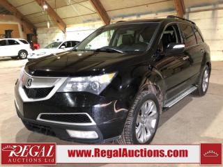 Used 2012 Acura MDX Elite 4D Utility for sale in Calgary, AB