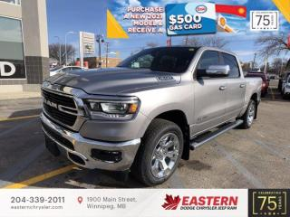 New 2021 RAM 1500 Big Horn | Blind Spot Det. | Backup Cam | 0 % Financing | for sale in Winnipeg, MB