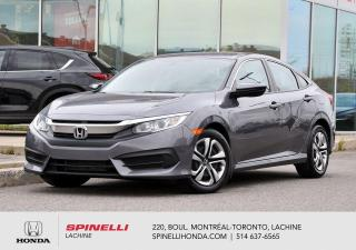 Used 2017 Honda Civic LX MANUELLE BAS KM MANULLE AC BLUETOOTH APPLE CARPLAY++ for sale in Lachine, QC