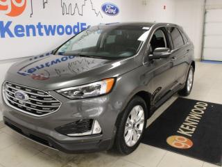 Used 2020 Ford Edge Titanium 301A | AWD | 2.0L Ecoboost | Heated/Cooled Seats | Heated Steering Wheel | Lane Keeping System | Pre-Collision Assist | Reverse Camera/Sensing System | Navigation | Panoramic Roof for sale in Edmonton, AB