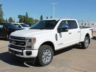 New 2020 Ford F-350 Super Duty SRW Platinum | 4X4 Crew Cab | 6.7L V8 | Power Heated Seats | Pre-Collision Assist | Remote Vehicle Start | Reverse Camera System | Trailer Tow Package | Navigation | Moonroof for sale in Edmonton, AB