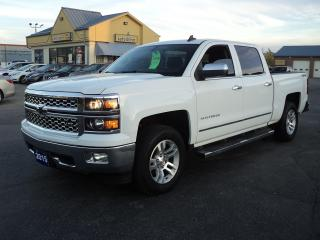 Used 2015 Chevrolet Silverado 1500 LTZ CrewCab 4x4 5.3L 5.5ft BoxLeatherHeatedBackCam for sale in Brantford, ON