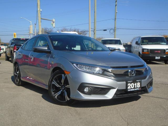 2018 Honda Civic Touring LOW KM NO ACCIDENT 1 OWNER FULLY LOADED FA