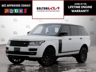 Used 2017 Land Rover Range Rover V8 Supercharged | Black Pack |Drive Pack| Nav for sale in Bolton, ON