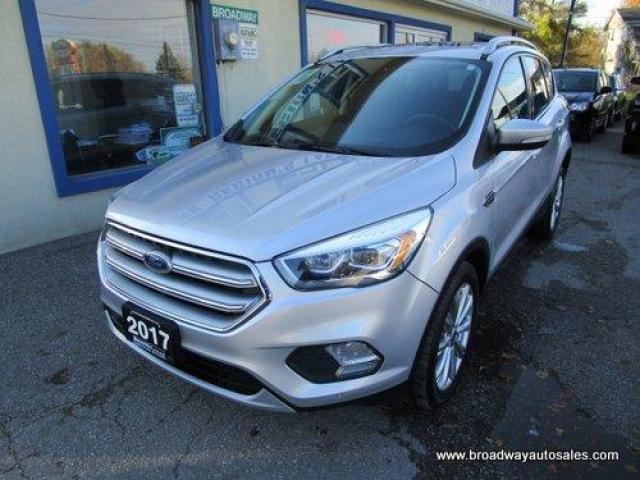 2017 Ford Escape FOUR-WHEEL DRIVE TITANIUM EDITION 5 PASSENGER 2.0L - ECO-BOOST.. NAVIGATION.. LEATHER.. HEATED SEATS.. PANORAMIC SUNROOF.. BACK-UP CAMERA.. SONY..