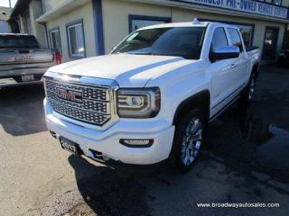 Used 2017 GMC Sierra 1500 LOADED DENALI EDITION 5 PASSENGER 6.2L - V8.. 4X4.. CREW.. SHORTY.. NAVIGATION.. LEATHER.. HEATED/AC SEATS.. POWER PEDALS & MIRRORS.. POWER SUNROOF.. for sale in Bradford, ON