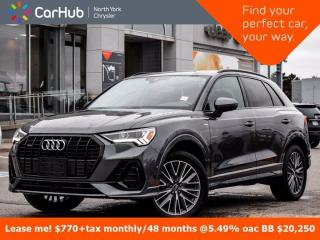Used 2020 Audi Q3 Technik Quattro Bang & Olufsen Panoramic Roof Navigation for sale in Thornhill, ON