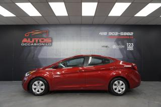 Used 2016 Hyundai Elantra L+ AUTOMATIQUE AIR CLIMATISÉ 63 972 KM CERTIFIÉ !! for sale in Lévis, QC