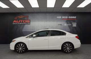 Used 2012 Honda Civic EX MANUEL TOIT OUVRANT MAGS BLUETOOTH TRÈS PROPRE for sale in Lévis, QC
