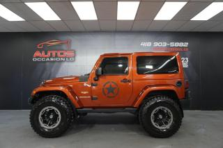 Used 2014 Jeep Wrangler SAHARA 4X4 MANUEL CUIR + TRÈS BEAU LOOK 84 417 KM for sale in Lévis, QC