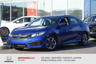 Used 2017 Honda Civic LX SEDAN AUBAINE AUTO AC BLUETOOTH APPLE CARPLAY CAM RECUL++ for sale in Lachine, QC
