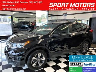 Used 2018 Honda CR-V LX+AWD+Adaptive Cruise+LKA+Camera+Accident Free for sale in London, ON