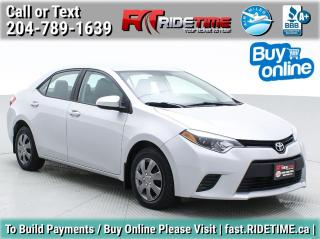 Used 2015 Toyota Corolla CE for sale in Winnipeg, MB