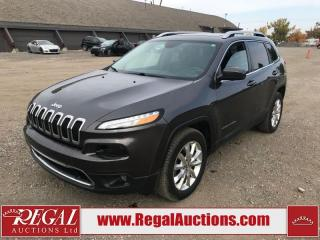Used 2016 Jeep Cherokee Limited 4D Utility 4WD 3.2L for sale in Calgary, AB