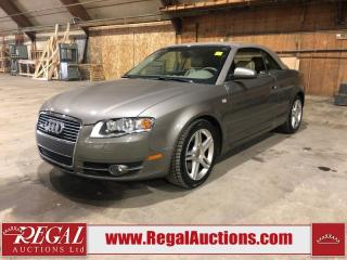 Used 2007 Audi A4 2D CONVERTIBLE AWD for sale in Calgary, AB