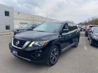 Used 2017 Nissan Pathfinder Platinum 4WD Blind Spot 360 Cam Navi Sunroof for sale in Maple, ON