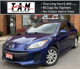 Used 2012 Mazda MAZDA3 I Touring 5-Door Heated Seats Bluetooth FWD 6-Speed Manual Clean Carfax One Owner for sale in North York, ON