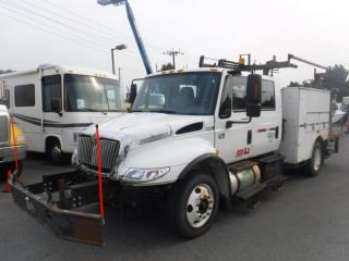 Used 2006 International 4300 Diesel DT466 With Crane And Hydraulic Brakes for sale in Burnaby, BC