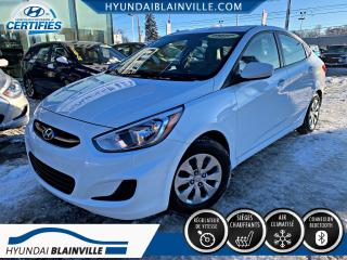 Used 2017 Hyundai Accent GL BLUETOOTH, BANCS CHAUFFANTS, A/C+ for sale in Blainville, QC