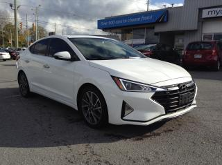 Used 2019 Hyundai Elantra Luxury LEATHER, SUNROOF, HEATED SEATS, BACKUP CAM!! for sale in Kingston, ON