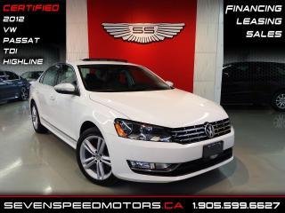 Used 2012 Volkswagen Passat TDI HIGHLINE   SCREEN   CERTIFIED   FINANCE @ 4.65% for sale in Oakville, ON