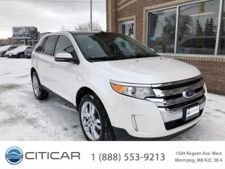 Used 2013 Ford Edge 2013 FORD EDGE LIMITED*NAV*CAM*HTD SEATS*MROOF for sale in Winnipeg, MB