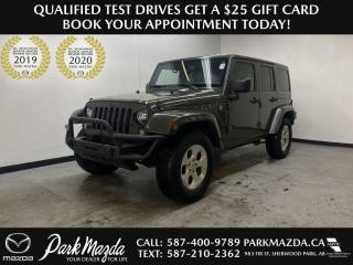 Used 2015 Jeep Wrangler Unlimited Sahara for sale in Sherwood Park, AB