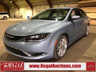 Used 2015 Chrysler 200 Limited 4D Sedan for sale in Calgary, AB