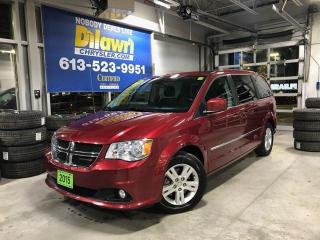 Used 2015 Dodge Grand Caravan Crew Plus | Leather, Power Doors, Backup Cam for sale in Nepean, ON