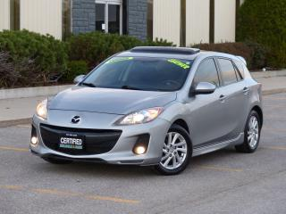 Used 2012 Mazda MAZDA3 LEATHER,GS-SKYACTIV,SUNROOF,FULLY LOADED,CERTIFIED for sale in Mississauga, ON