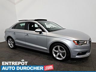 Used 2016 Audi A3 1.8T Komfort AWD TOIT OUVRANT - A/C - CUIR for sale in Laval, QC