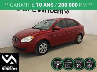 Used 2011 Hyundai Accent GL CLIMATISEUR ** GARANTIE 10 ANS ** Parfait pour étudiant ou petit budget! for sale in Shawinigan, QC