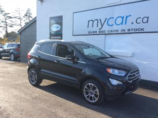 Used 2019 Ford EcoSport Titanium LEATHER, SUNROOF, HEATED SEATS, BACKUP CAM!! for sale in North Bay, ON