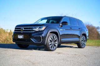 New 2021 Volkswagen Atlas 3.6 FSI Execline *R LINE* *MURANO BROWN INTERIOR*  *DIGITAL DASH* *LEATHER* *SUNROOF* *CARPLAY* *DRIVER ASSIST* for sale in Surrey, BC