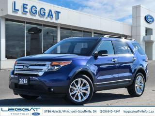 Used 2015 Ford Explorer XLT - 4WD, LEATHER, NAV, POWER LIFTGATE, ONE OWNER TRADE, SUPER LOW MILEAGE - for sale in Stouffville, ON