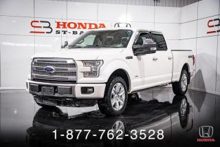 Used 2016 Ford F-150 PLATINUM + 3.5L + NAVI + TOIT + CUIR + W for sale in St-Basile-le-Grand, QC