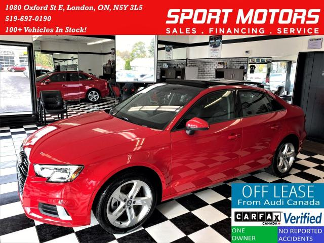 2018 Audi A3 TFSI S-Tronic+Pano Roof+Apple Play+ACCIDENT FREE