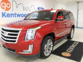 Used 2015 Cadillac Escalade Luxurious! | Heated Cooled Leather | Sunroof | DVD | Nav | Third Row for sale in Edmonton, AB