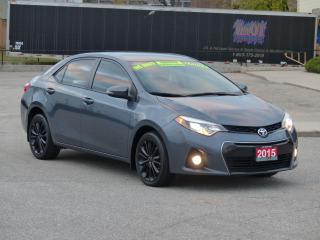 Used 2015 Toyota Corolla SPORT,LEATHER,REARCAM,LOADED,NO-ACCIDENT,CERTIFIED for sale in Mississauga, ON