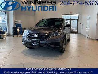Used 2016 Honda CR-V LX for sale in Winnipeg, MB
