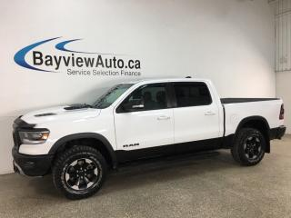 Used 2019 RAM 1500 Rebel - 4X4! 8SPD AUTO! NAV! PANOROOF! HTD LEATHER! BIG SCREEN! for sale in Belleville, ON