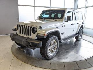 Used 2020 Jeep Wrangler Unlimited SAHARA | Heated Seats & Wheel | NAV | Leather | No Accidents for sale in Edmonton, AB