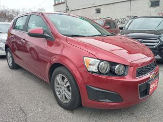 Used 2013 Chevrolet Sonic LT-EXTRA CLEAN-49K-BLUETOOTH-USB-AUX-ALLOYS for sale in Scarborough, ON