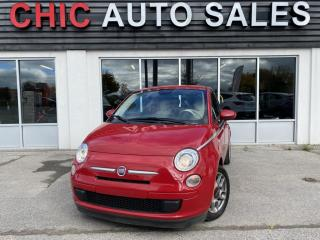 Used 2015 Fiat 500 POP|2 DR HB|MANUAL|RED/WHITE INTERIOR for sale in Richmond Hill, ON