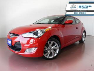 Used 2016 Hyundai Veloster FULLY SERVICED HERE | LOW KM | 1 OWNER  - $108 B/W for sale in Brantford, ON