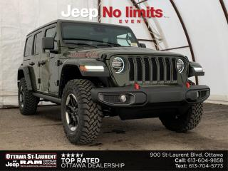 New 2021 Jeep Wrangler Unlimited Rubicon RUBICON 4X4 | COLD WEATHER, TRAILER TOW, UCONNECT 4C NAVIGATION & SOUND + ADVANCED SAFETY GROUP for sale in Ottawa, ON