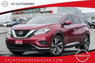 Used 2015 Nissan Murano Platinum | Loaded | Leather | Navi | Roof for sale in St. Catharines, ON