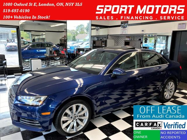 2017 Audi A4 Quattro+Apple Play+Roof+Xenons+ACCIDENT FREE