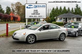 Used 2007 Pontiac G6 GT Sedan, ONLY 84K, Local, No Declarations, Sunroof, Clean! for sale in Surrey, BC